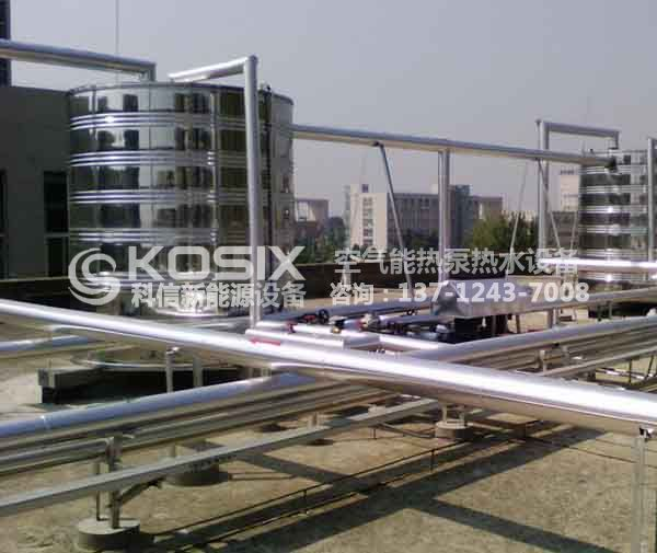 酒店热水工程系统方案,酒店热泵热水工程,酒店热泵热水机组系统