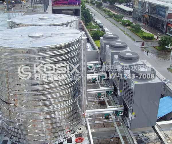 洪湖工厂热泵热水工程,洪湖热泵热水机系统工程案例