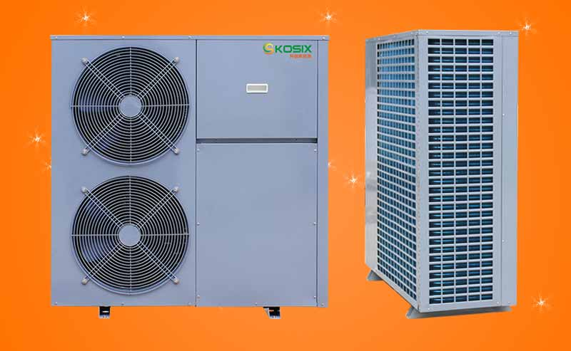 空气源热泵热水机组 空气源热泵冷热水采暖系统