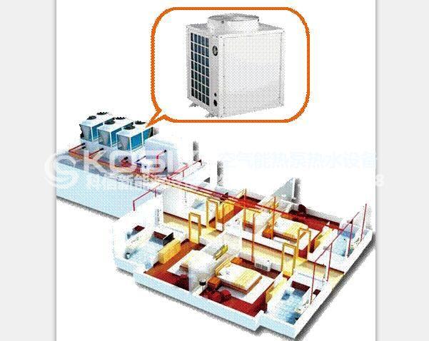 酒店、宾馆、商用空气源热泵采暖施工图
