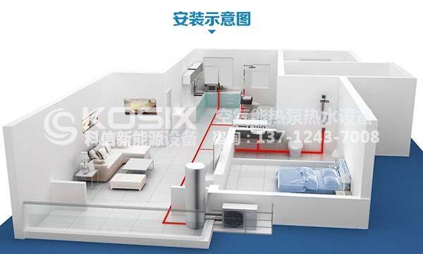 江苏省常州市空气源热泵地暖热水两联供工程案例
